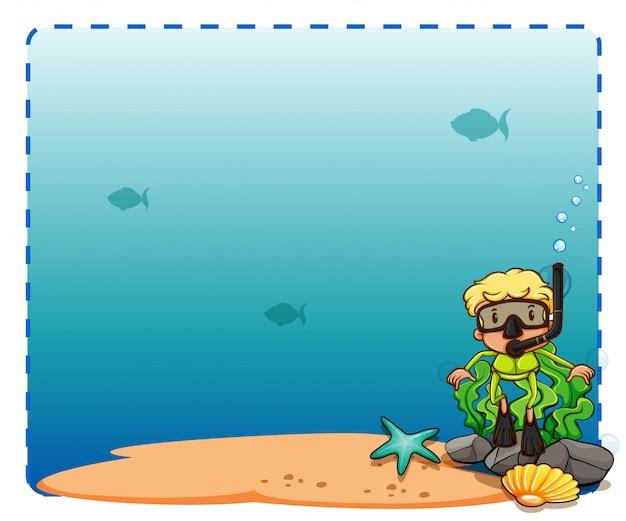 Moldura do fundo marinho
