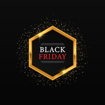 Moldura dourada brilhante brilhante para sexta-feira preta moldura dourada brilhante para vendas