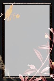 Moldura dourada cintilante em branco