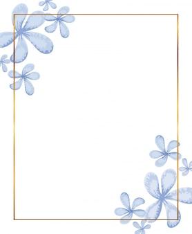 Moldura dourada com decoração de galhos
