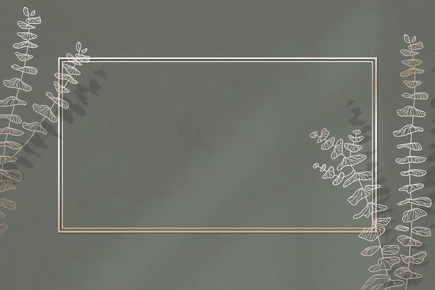 Moldura dourada com padrão de folha