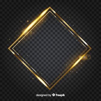 Moldura dourada de diamante