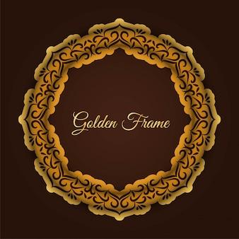 Moldura dourada de luxo abstrata