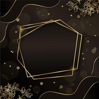 Moldura dourada de luxo