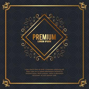 Moldura dourada de qualidade premium