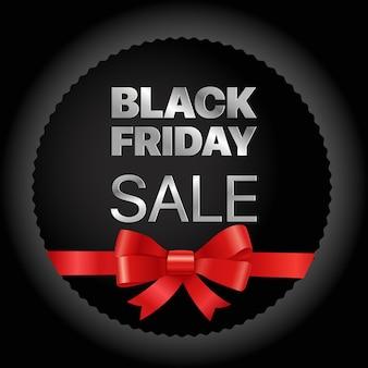 Moldura dourada de sexta-feira negra. etiqueta de vetor de venda sexta-feira negra com fita vermelha