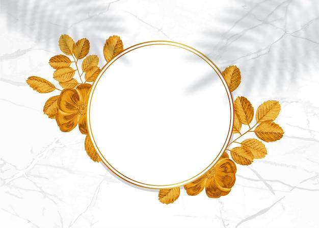 Moldura dourada decorativa.
