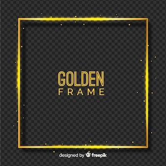 Moldura dourada em fundo transparente