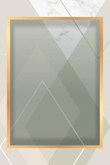 Moldura dourada moderna