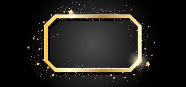 Moldura dourada no escuro