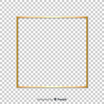 Moldura dourada realista quadrada
