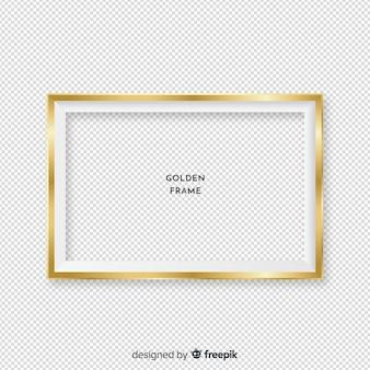 Moldura dourada realista