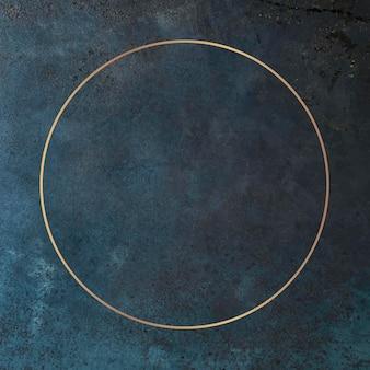 Moldura dourada redonda no vetor de fundo grunge