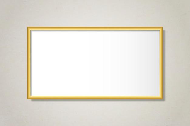 Moldura dourada simples na parede