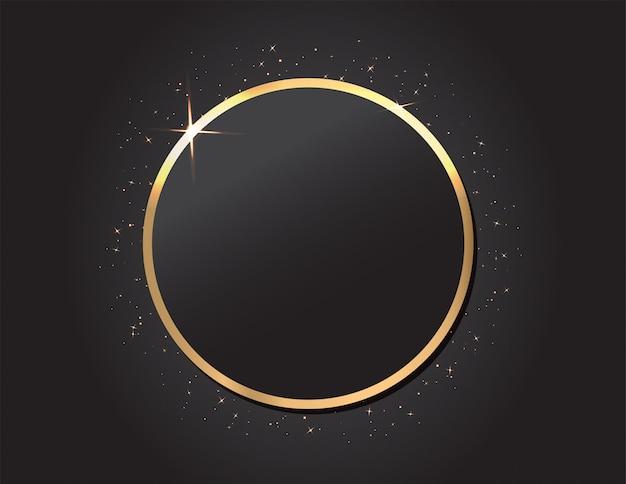 Moldura dourada sobre fundo preto