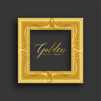 Moldura dourada vintage antiga