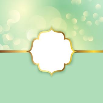 Moldura elegante em um fundo de luzes de bokeh