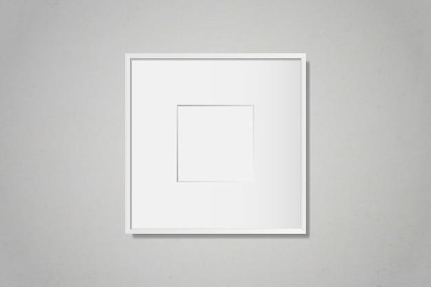Moldura em branco branco na parede