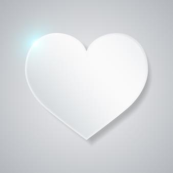 Moldura em branco de coração. fundo de dia dos namorados