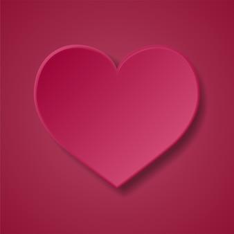 Moldura em branco de coração. fundo rosa dos namorados
