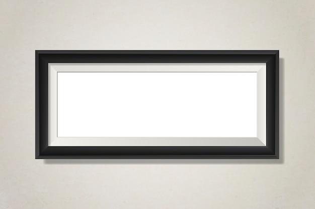 Moldura em branco preto na parede