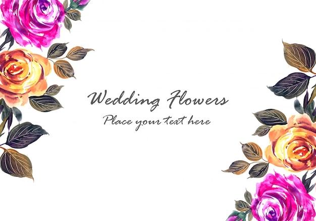 Moldura feita de composição floral decorativa