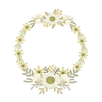 Moldura floral circular