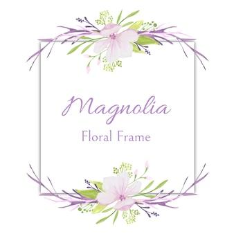 Moldura floral da magnólia