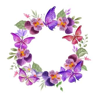 Moldura floral de primavera elegante e adorável