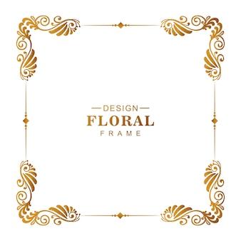 Moldura floral decorativa decorativa