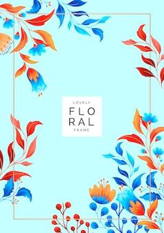 Moldura floral elegante