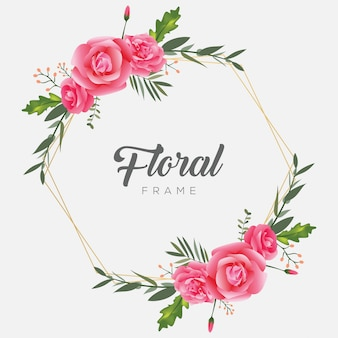 Moldura floral moldura flor vintage