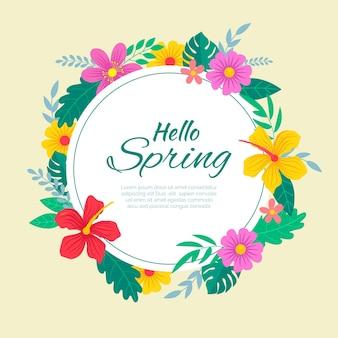 Moldura floral primavera