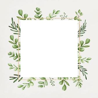 Moldura floral verde