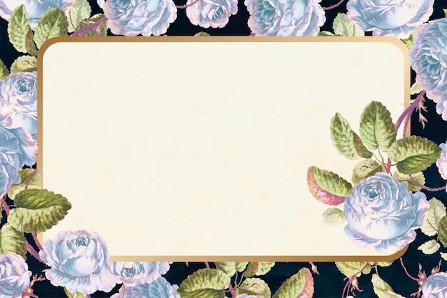 Moldura floral vintage desenhada à mão
