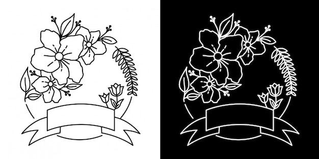 Moldura flower monoline design