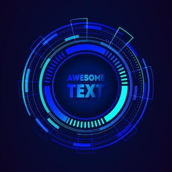 Moldura futurista redonda com lugar para texto