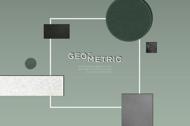 Moldura geométrica moderna sofisticada