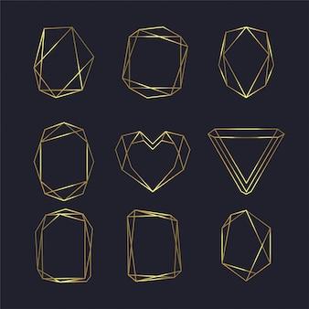 Moldura geométrica premium para logotipo