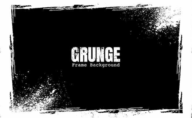 Moldura grunge preto e branco
