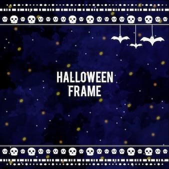 Moldura horizontal de halloween