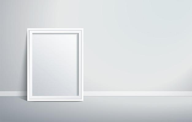 Moldura isolada na parede