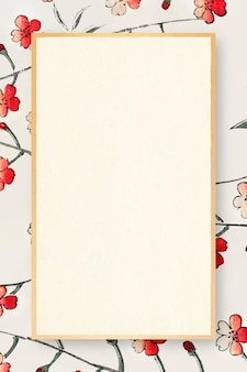 Moldura oriental de flor de cerejeira japonesa Vetor grátis