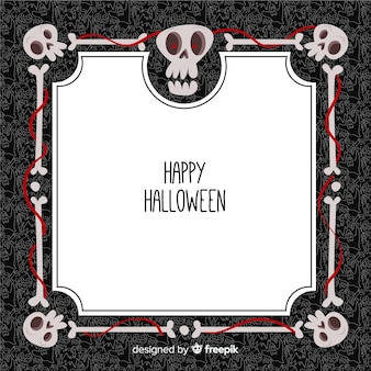 Moldura ornamental de halloween com design liso