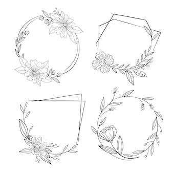 Moldura ornamental desenhada à mão