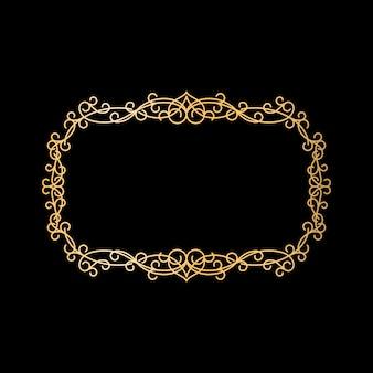 Moldura ornamental vintage dourada
