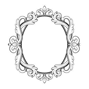 Moldura ornamental vintage na cor preta.