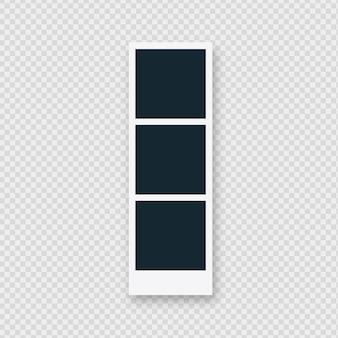 Moldura polaroid tripla