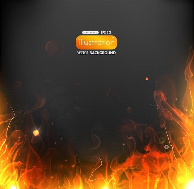 Moldura preta brilhante queimado quente