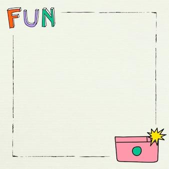 Moldura quadrada colorida divertida